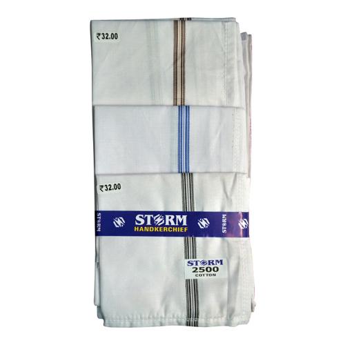 Cotton Satin Border Handkerchief