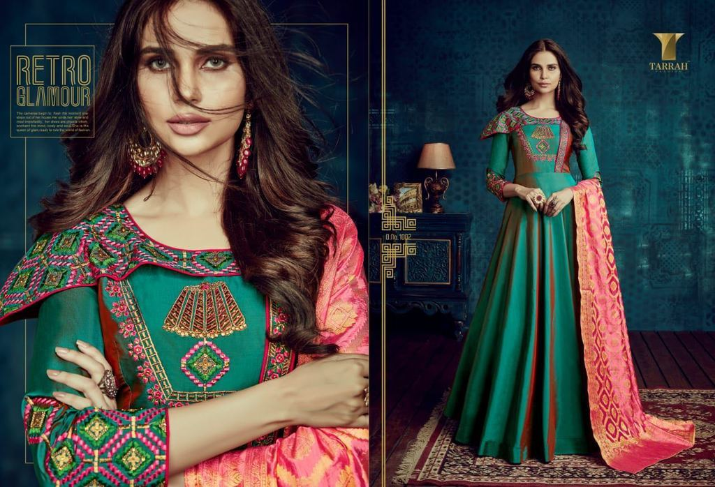 Readymade Embroidered Silk Suits