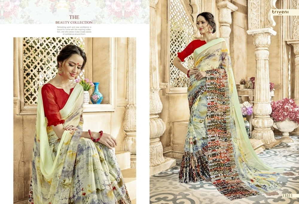 Beautiful Georgette Printed Sarees