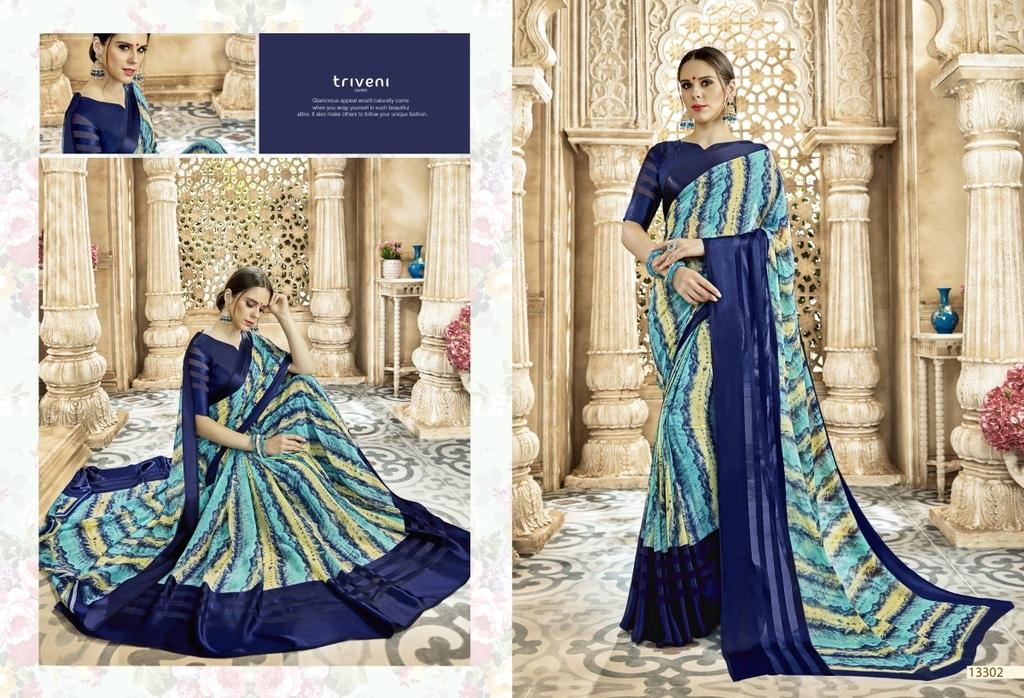 Beautiful Georgette Printed Sarees