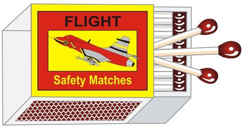 Flight Safety Match Stick