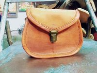 Vintage Handmade Leather Bag