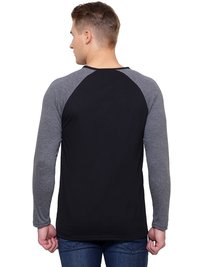 Solid Mens Henley Neck T Shirt