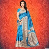 Stylish Kalamkari Printed Mysore Silk Saree