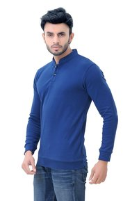 Solid Mens Full Sleeve T-Shirt