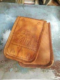 Elephant Print Leather Bag