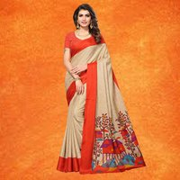 Fancy Party Wear Manipuri Printed Saree