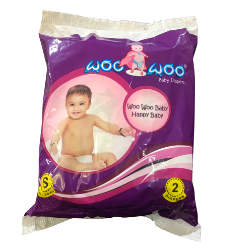 Small 2 Pack Woo Woo Baby Diapers
