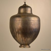 SILVER AND GOLD ANTIQUE GLASS HANGING WITH FITTING