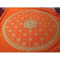 Orange Embroidered Rumala Sahib