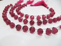 AAA Quality Rubellite Pink Quartz Tear Drop Shape Faceted Beads