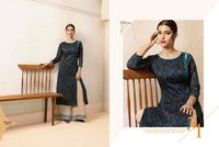 Rayon printed kurti with designer plazzo
