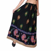 Gold Printed Long Skirt