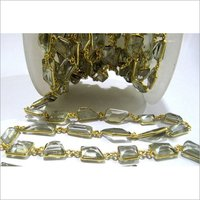 AAA Quality Natural Green Amethyst Free Shape chain