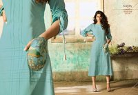 Cotton Embroidery Work Kurtis