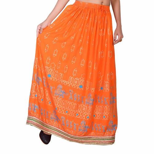 Animal Printed Long Skirt
