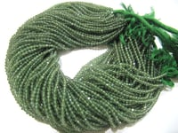AAA Quality Green Apatite Gemstone Round Faceted Beads