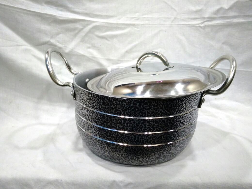Alluminium Black Coating Stew Pan