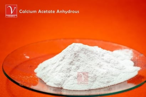 Calcium Acetate Anhydrous Ash %: 99.5 %