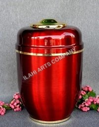Red Brass Urn