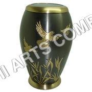 Brass Birds Urn