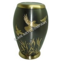 Brass Birds Urn