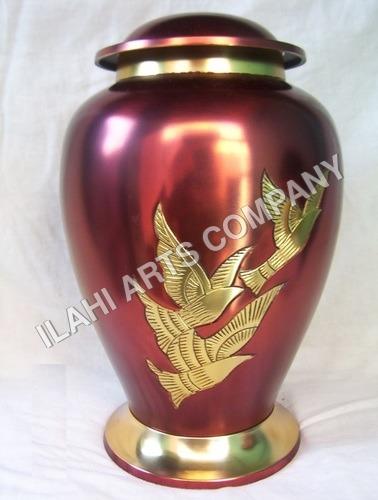 Brass Cherry Eagles Urn