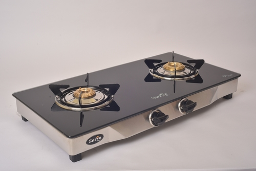 Surya Care 2 Burner Glass Top Gas Stove