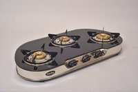 Sunstar 3 Burner Glass top Gas Stove