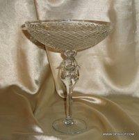 CLEAR GLASS ANTIQUE CRYSTAL CUTTING PILLAR BOWL , CRYSTAL CUTTING BOWL