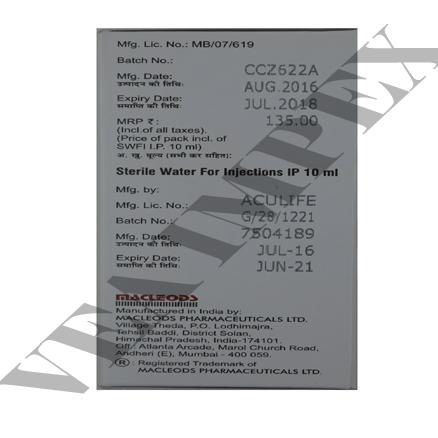 Accuzon 1.5 g(Ceftriaxone Sulbactam Injection)