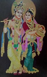 Radha Krishna Virandhaban Painting