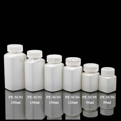 China Manufacturing HDPE Oblong Omega Bottle