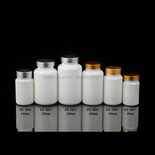 HDPE Vitamin Bottle With Aluminum Screw Cap