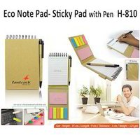Eco Note pad-Sticky Pad with Pen