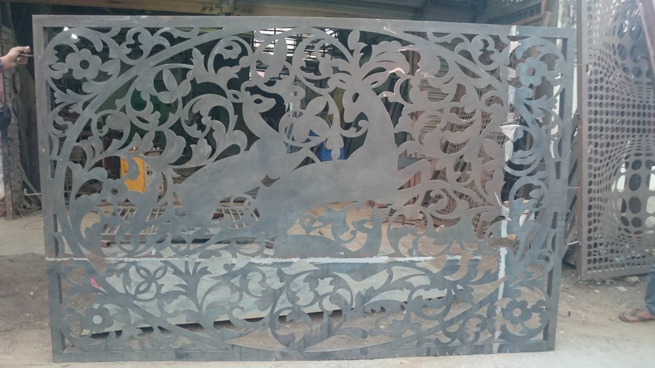 cnc cutting metal gates
