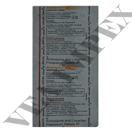 Amlovas LS(Amlodipine & Potassium Tablets)