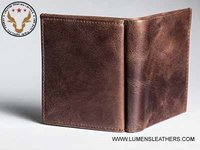 Genuine Leather Wallet with Coin Tray