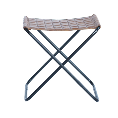 Leather Cross Stool