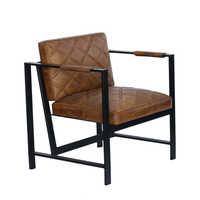Leather Iron Single Sofa
