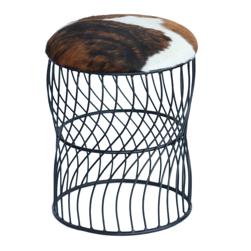 Leather Iron Stool