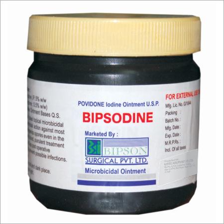 Bipsodine Ointment Jar