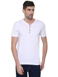 Men's Plain Half T-shirt