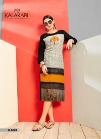 Latest Rayon Printed Kurtis
