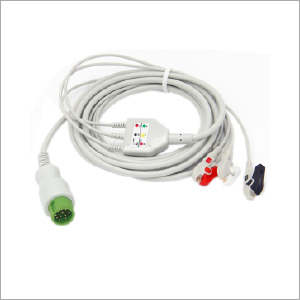 3 Lead ECG Cable With Clip