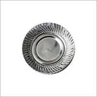 Silver Crinkle Paper Plates