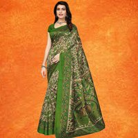 Stylish Kalamkari Print Mysore Silk Saree