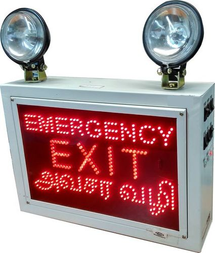 INDUSTRIAL EMERGENCY LIGHT WITH EMERGENCY EXIT AVASARA  VALI SIGN