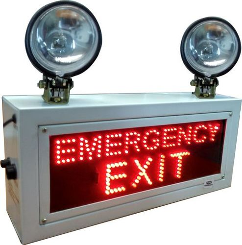 INDUSTRIAL EMERGENCY LIGHT WITH EMERGENCY EXIT SIGN