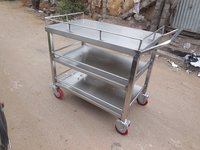 Trolley with 2 Under Shelves